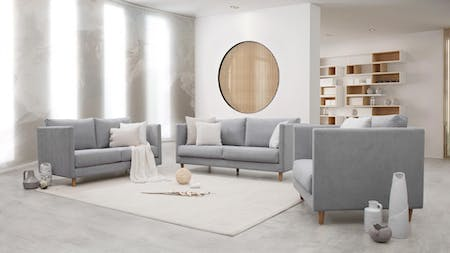 Halley Fabric Sofa Suite 3 + 2 + 1