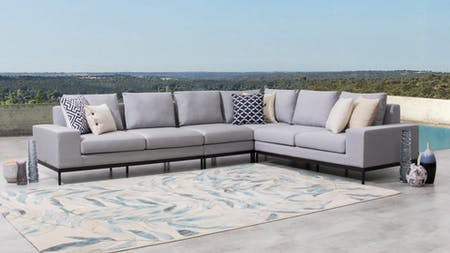 June Outdoor Fabric L Shaped Lounge