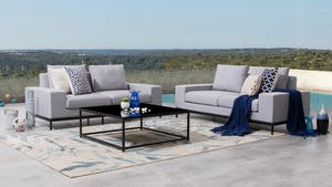 June Outdoor Fabric Sofa Suite 2 + 2 With Coffee Table