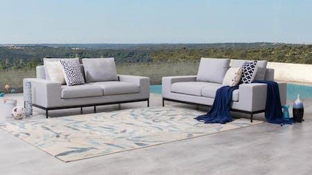 June Outdoor Fabric Sofa Suite 2 + 2