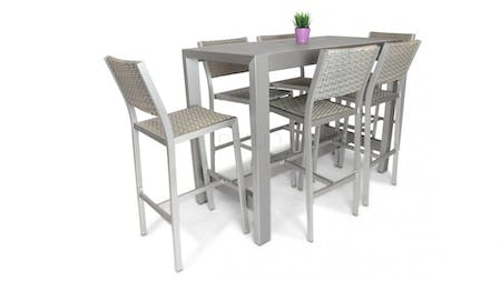 Argento Outdoor 6 Seater Bar Set