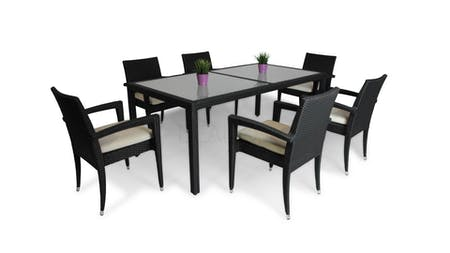 Caprica 6 Seater Outdoor Dining Set