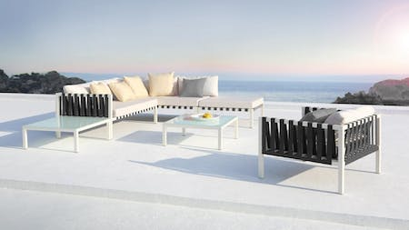 Horizon Outdoor Aluminium Corner Lounge With Coffee Table