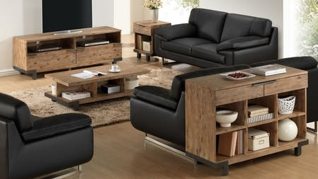 Industrial 4 Piece Lounge Room Package