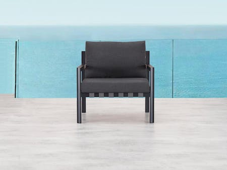 Klara Black Outdoor Armchair