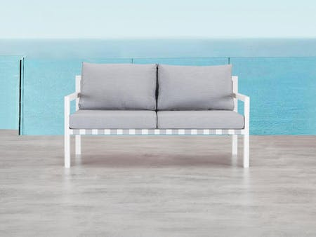 Klara White Outdoor Two Seater Sofa