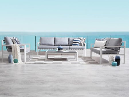 Klara White Outdoor Sofa Suite 3 + 2 + 1