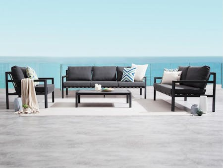 Klara Black Outdoor Sofa Suite 3 + 2 + 1
