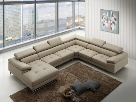 Incredible Boston Xpress Smoke Leather Modular Lounge Lounge Life Bralicious Painted Fabric Chair Ideas Braliciousco
