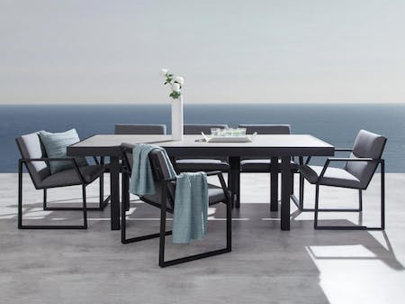 Invini 7-Piece Outdoor Ceramic Dining Set