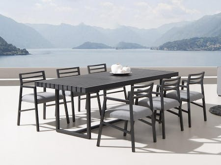 Elite 7-Piece Outdoor Aluminium Dining Set With Blaze Chairs