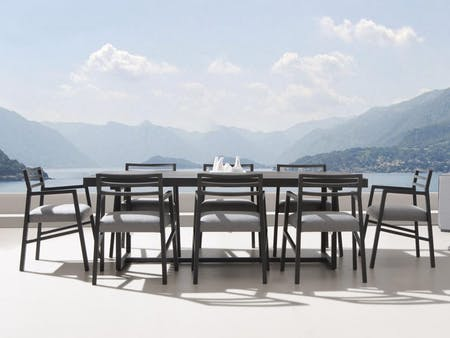 Elite 9-Piece Outdoor Aluminium Dining Set With Blaze Chairs