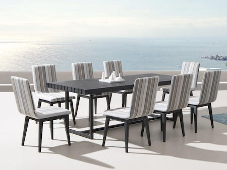 Elite 9-Piece Outdoor Aluminium Dining Set With Kroes Chairs