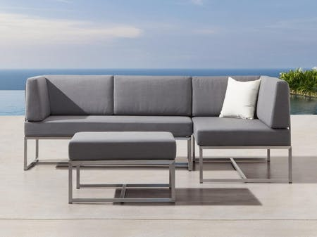 Element Five Ways Outdoor Stainless Steel Lounge System