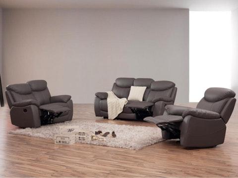 Brighton Leather Recliner Sofa Suite 3 2 1 Lounge Life