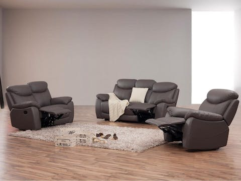 Outstanding Brighton Leather Recliner Sofa Suite 3 2 1 Lounge Life Gmtry Best Dining Table And Chair Ideas Images Gmtryco