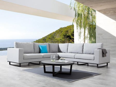 Soho Outdoor Fabric Corner Lounge With Coffee Table