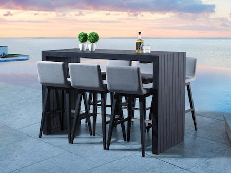 Kroes 7-Piece Outdoor Aluminium Bar Set