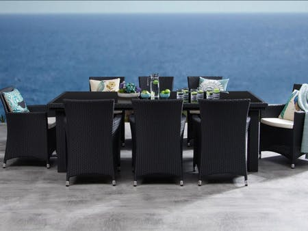 Letizia 9-Piece Outdoor Wicker Dining Set