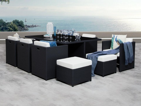 Vacanza 11 Piece Outdoor Wicker Dining Cube Lavita Furniture