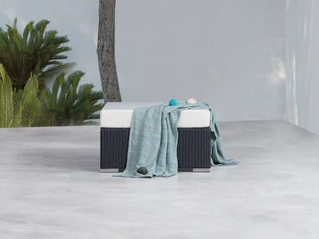 Moda Outdoor Wicker Ottoman
