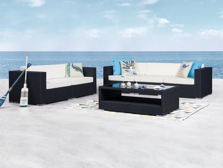 Moda Outdoor Wicker Sofa Suite 3 + 2