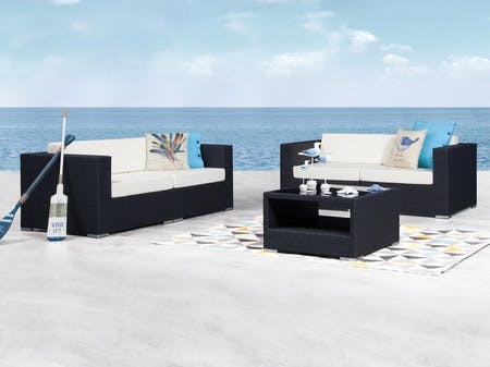 Moda Outdoor Wicker Sofa Suite 2 + 2