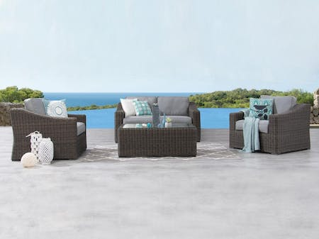Canyon Outdoor Wicker Sofa Suite 2 + 1 + 1