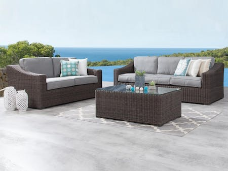Canyon Outdoor Wicker Sofa Suite 3 + 2