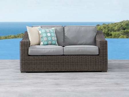 Canyon Outdoor Wicker Two Seater Sofa