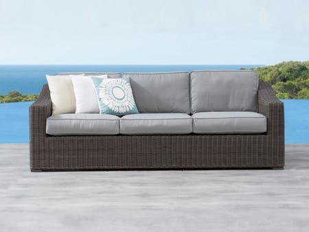 Canyon Outdoor Wicker Three Seater Sofa