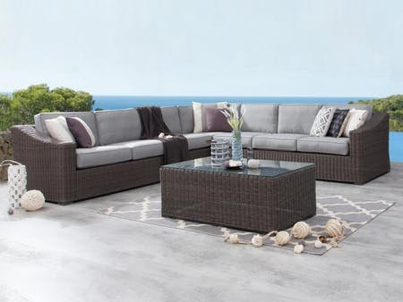 Canyon Outdoor Wicker Large Corner Lounge
