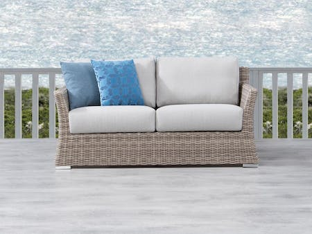 Savannah Outdoor  Wicker Two Seater Sofa