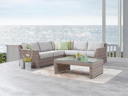 Savannah Outdoor Wicker Corner Lounge