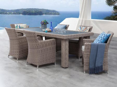 Savannah 7-Piece Outdoor Wicker Dining Set