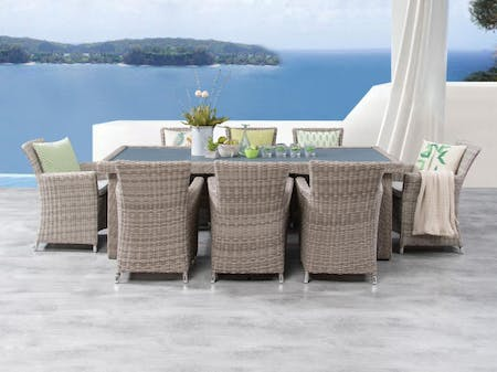 Savannah 9-Piece Outdoor Wicker Dining Set