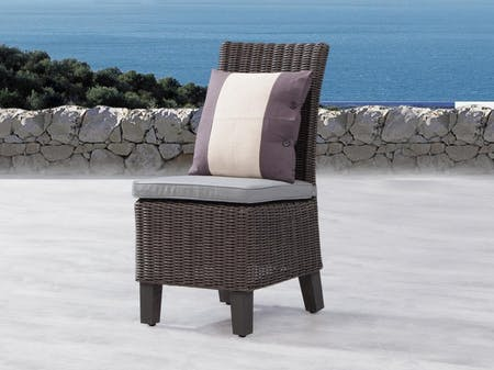 Canyon Outdoor Wicker Dining Chair Set of Two
