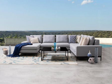 June Outdoor Fabric Modular Lounge With Coffee Table
