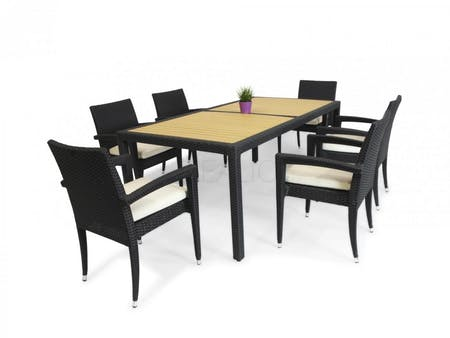 Kara 6 Seateroutdoor Dining Set